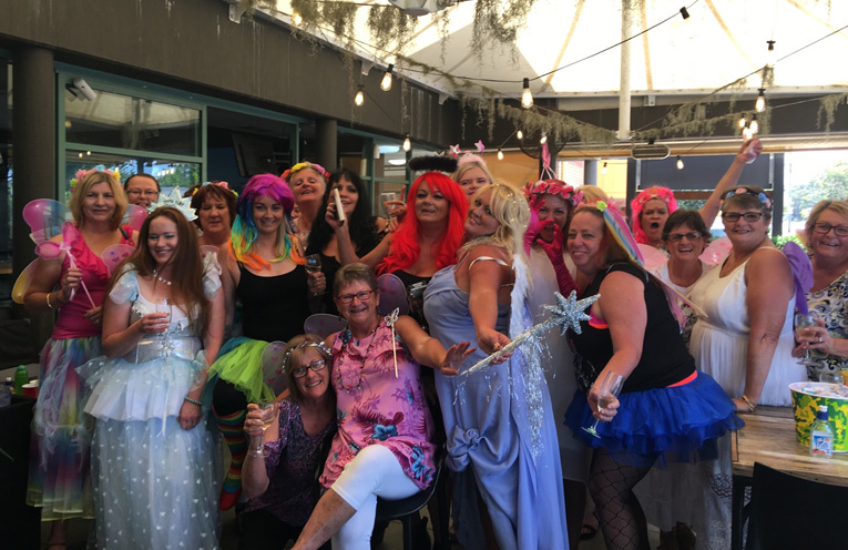 RAISING FUNDS FOR WOMEN IN CRISIS:: Fairies Day Fun at Tea Gardens Hotel.