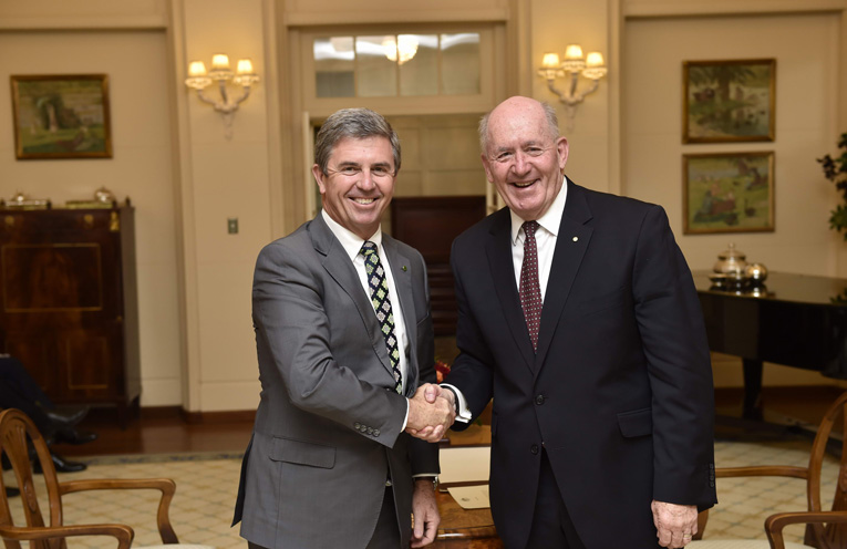 Federal Assistant Minister for Children and Families, Dr David Gillespie. Governor-General His Excellency Sir Peter Cosgrove
