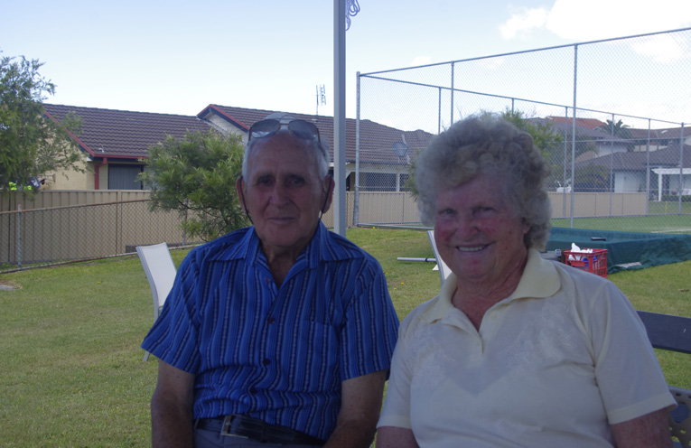 Pam and her husband Ray Single at Boat Harbour. Photo by Marian Sampson.