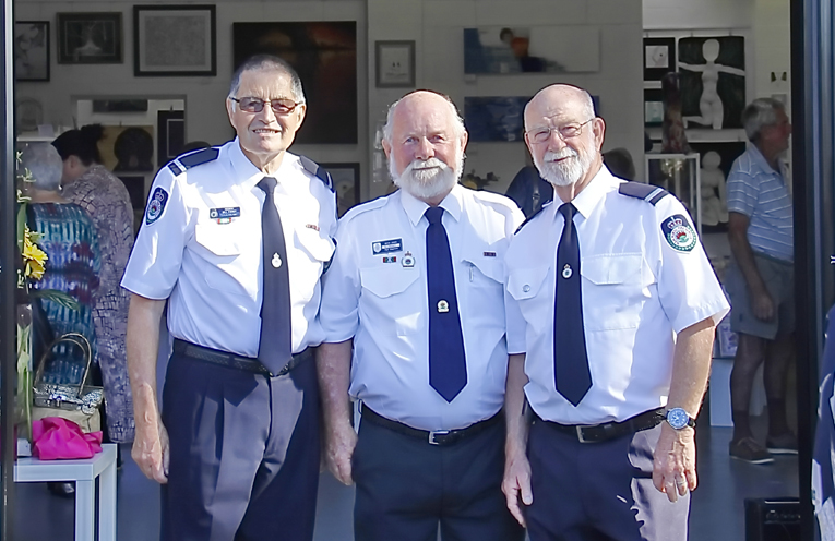Revisiting their old digs, Lemon Tree Passage RFS members attended the renovated Fire Station that is now home to the TAG Gallery.