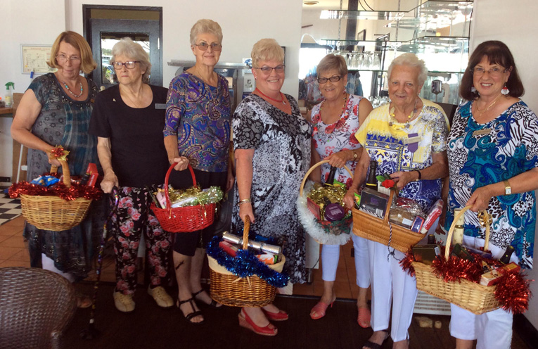 Myall River VIEW Club members with the Christmas baskets