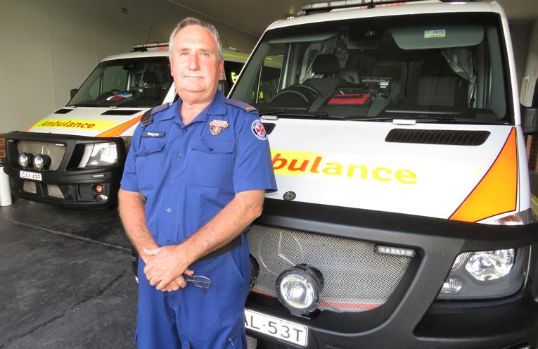 Bulahdelah paramedic Wayne Cook.