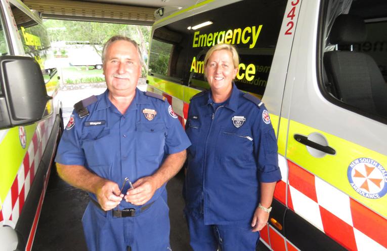 Paramedics Wayne Cook and Jacqui Forsyth.
