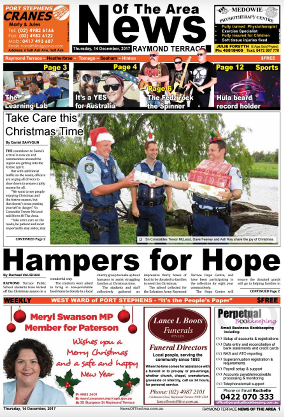raymond terrace news of the area 14 december 2017 news