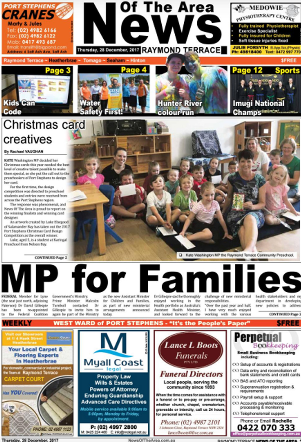 raymond terrace news of the area 28 december 2017 news