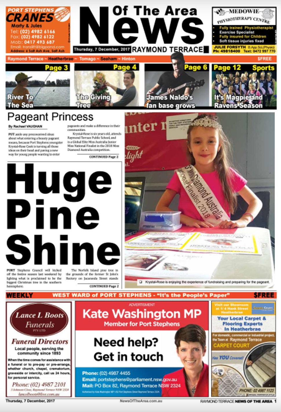 raymond terrace news of the area 7 december 2017 news