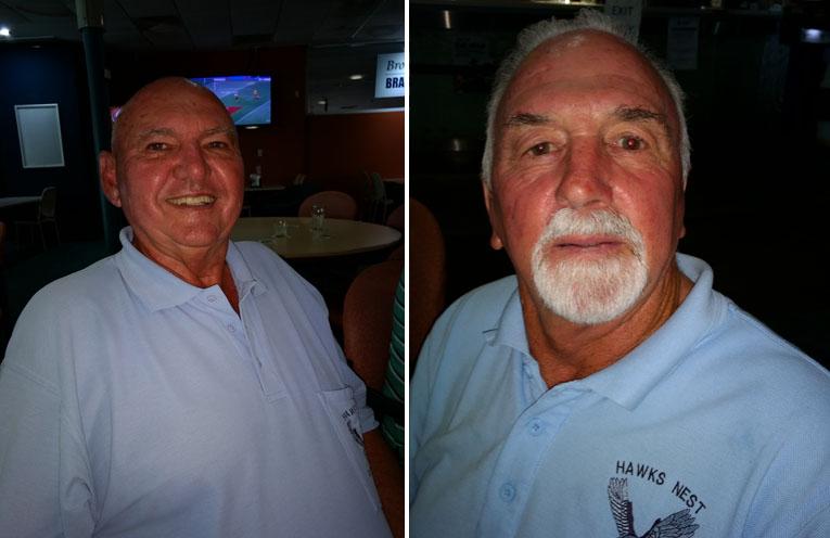 A Grade winner Col Amos. (left) B Grade winner Ken Hill. (right)