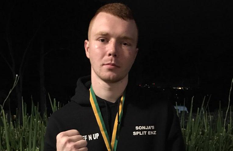 AUSTRALIAN AMATEUR TITLES: Karuah boxer Daniel Evans.
