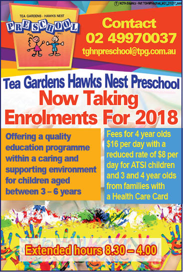 Tea Gardens Hawks Nest Preschool