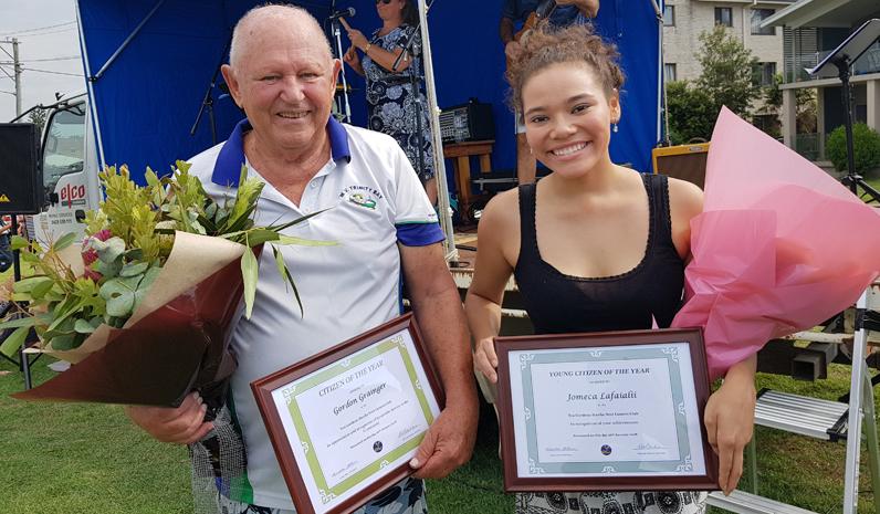 LIONESS AWARDS: Gordon Grainger and Jomeca Lafaialii.