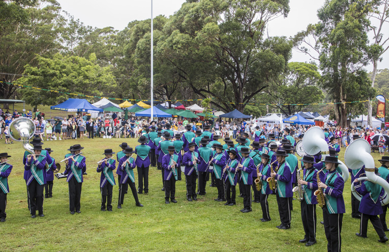 Last year's Australia Day celebration at Fly Point. Photo by Henk Tobbe.
