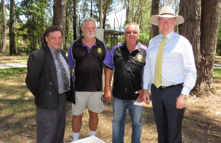 John Sahyoun, Glen Daftel, Arthur Baker and Myall Lakes Mp Stephen Bromhead.