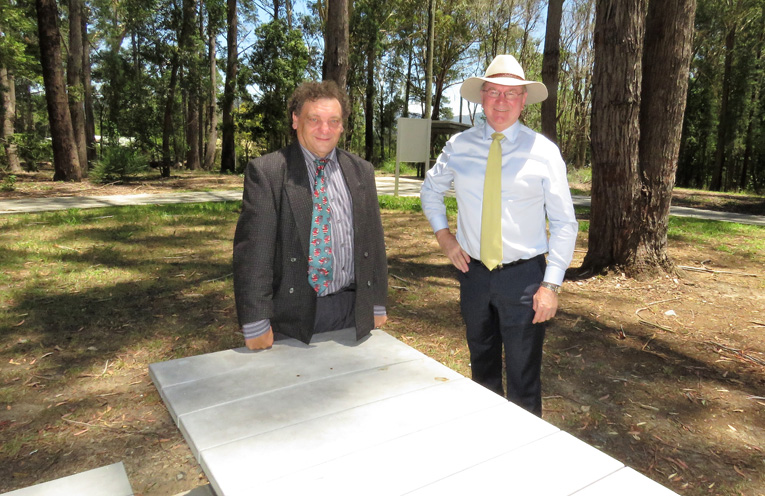 Bulahdelah Chamber of Commerce President John Sahyoun and Myall Makes MP Stephen.