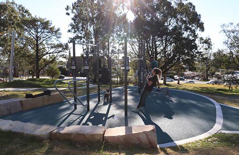 The Fitness Hub at Boomerang Park.