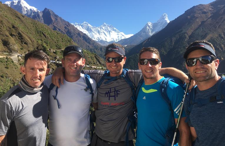 Stephen Crowe, Matt Gidley, Mark Hughes, Kurt Gidley and Danny Buderus on the trek of a lifetime.