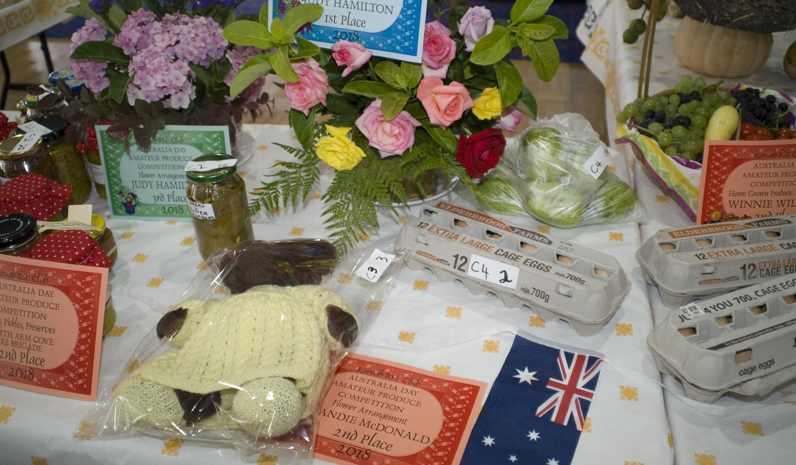 A large variety of cakes, craft, condiments and produce was judged in the Australia Day competition at Karuah RSL Club.