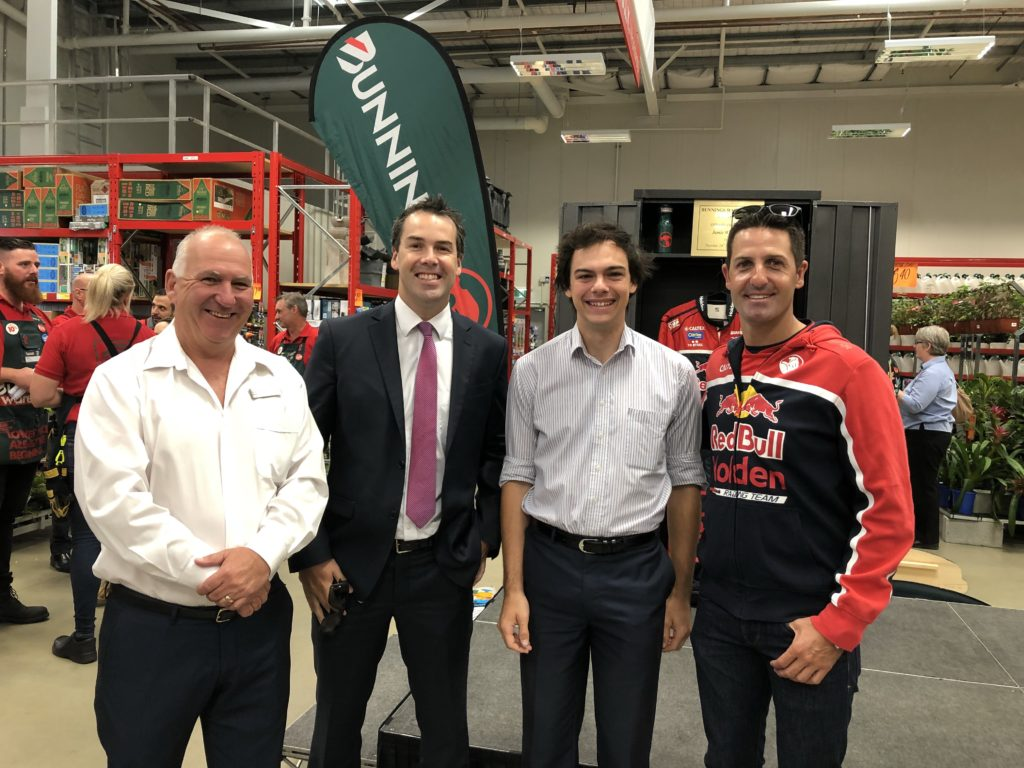 Cr Paul Le Mottee, Mayor Ryan Palmer, Cr Giacomo Arnott and Jami Whincup at the official opening.