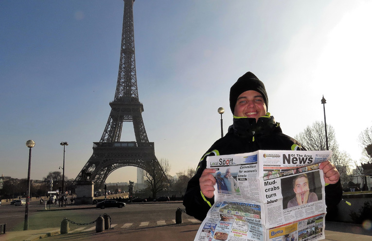 Paris: News Of The Area makes a good read anywhere, anytime.