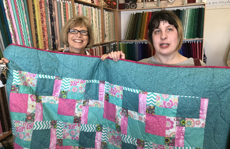 Samantha (Sammy) Black with Leanne from Terrace Quilting.