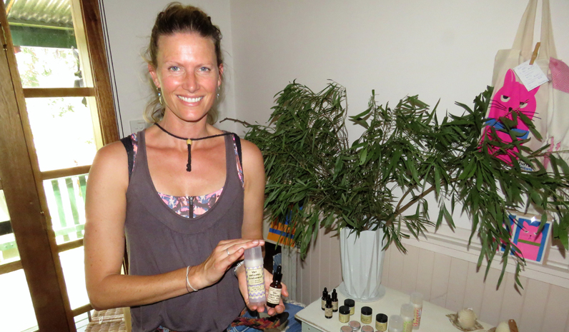 Local producer Naomi Patton from the Natural Deodorant Company.