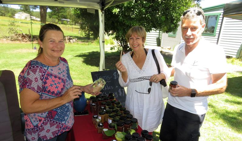 Terri Searle from Elraes Farmhouse with Amanda and Mal Hiley.