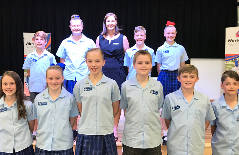 The 2018 Wirreanda Public School Student Leaders.