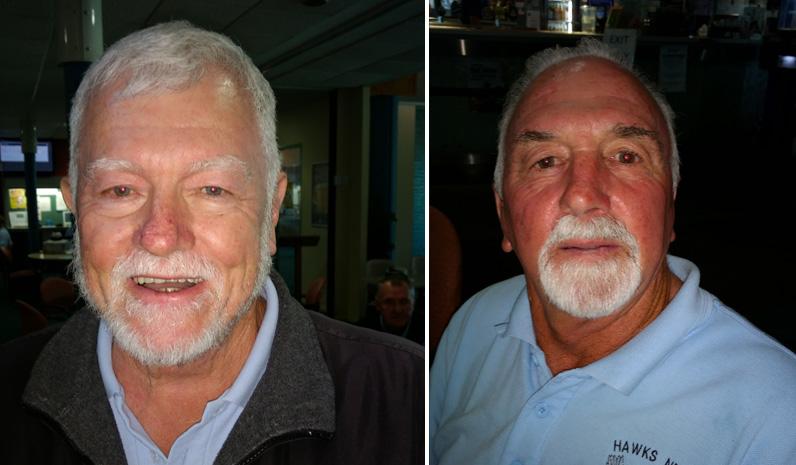 Front nine winner Roger Sykes. (left) Back nine winner Ken Hill. (right)