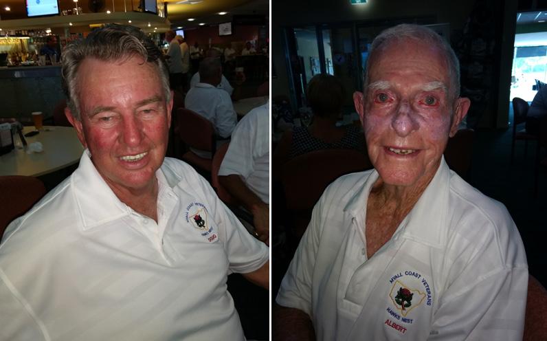A grade winner Doug Allen. (left) C grade winner Albert Adamson. (right)