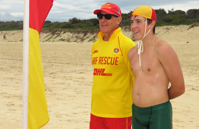 Keeping Beaches Safe: Brian Watson and Isaac Stokes.