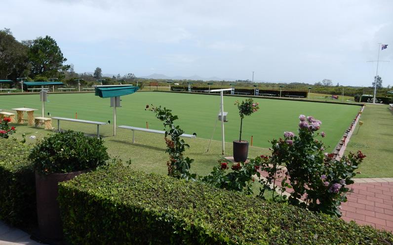 The rejuvenated grass green.