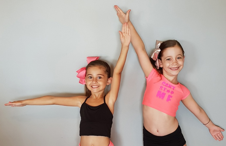 Annika McFarlane and Ava Lochhead are ready to groove!