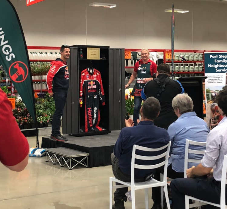 Australian Racing Driver Jamie Whincup and Store Manager Michele Hammond officially open the store.