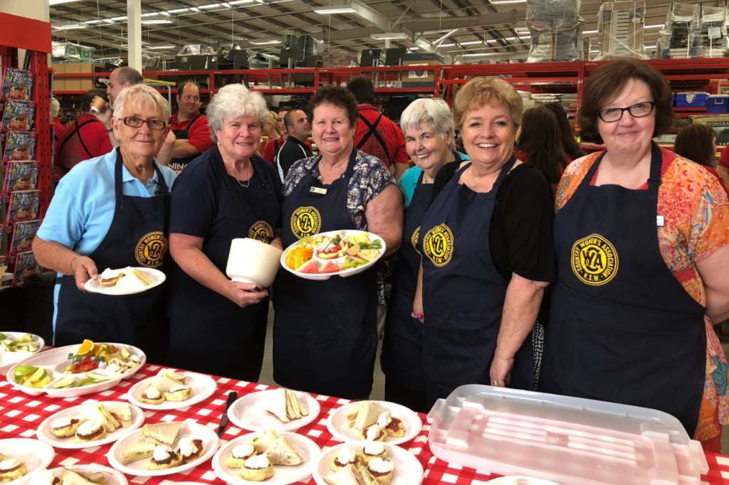 Ladies from three different Country Women's Association (CWA) branches across the Hunter provided a beautiful morning tea for invited guests and Bunnings Staff.