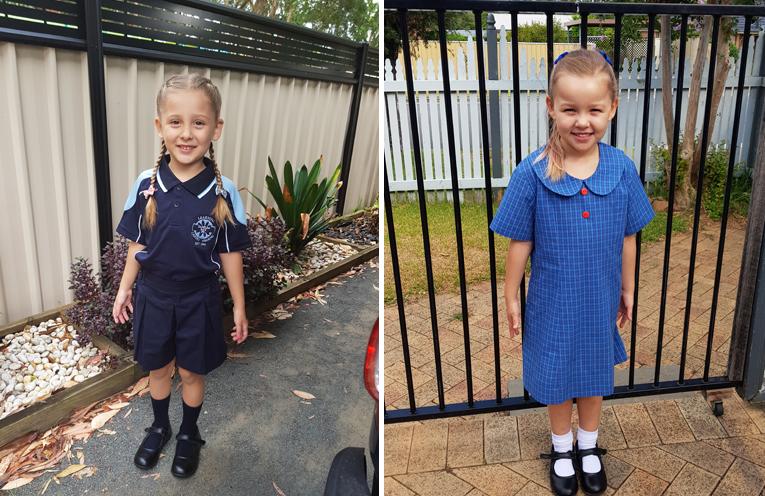 1a2: Latia Harvey - Tanilba Bay Public School, (left) Marli Warner - Wirreanda Public School. (right)