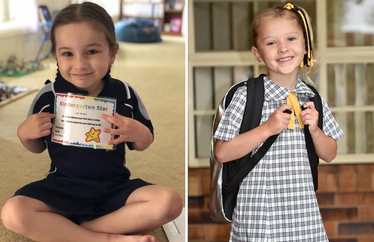 Lola Bailey - Tanilba Bay Public School. (left) Eleanor Green - Medowie Public School. (right)