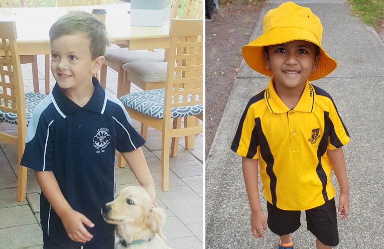 Tyler Sibbald - Tanilba Bay Public School. (left) Eric Kamble - Medowie Public School. (right)
