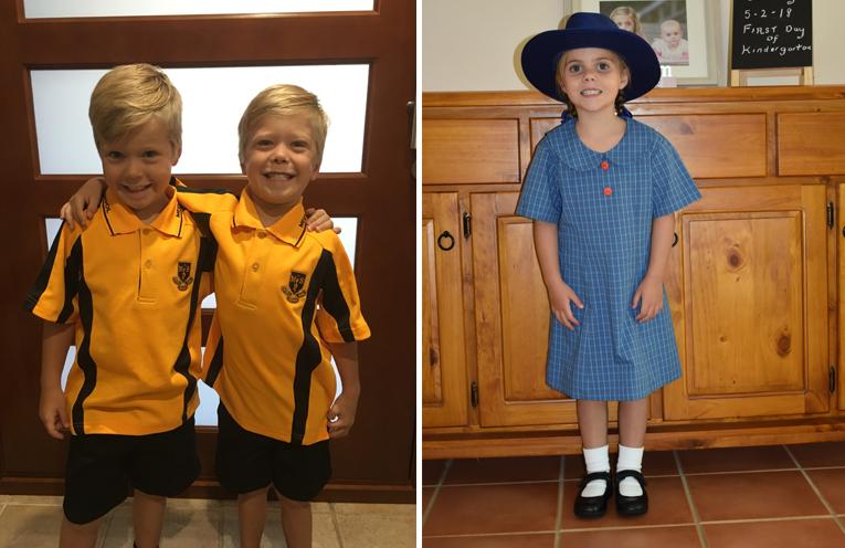 Braithe and Nash Jenner - Twins starting kindergarten at Medowie Public School. (left) Stacey Genge - Wirreanda Public School. (right)