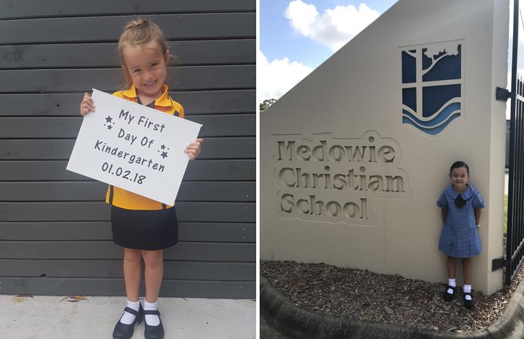 Matilda Goodsir - Medowie Public School. (left) Cara O'Neill - Medowie Christian School. (right)