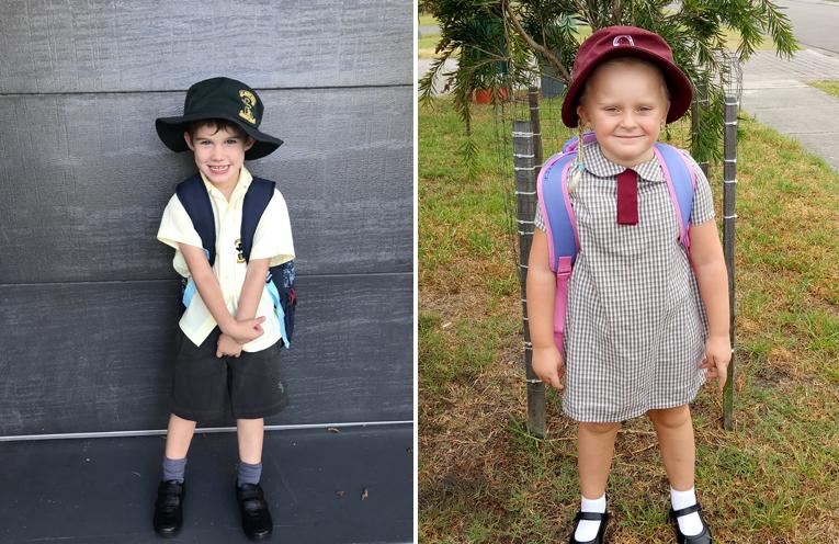 Lachlan Wright - St Brigid's Primary School. (left) Amleanah Drewett - Grahamstown Public School. (right)