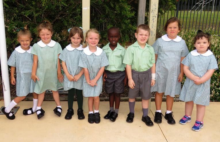 First day of Kindergarten at St Joseph's Bulahdelah.