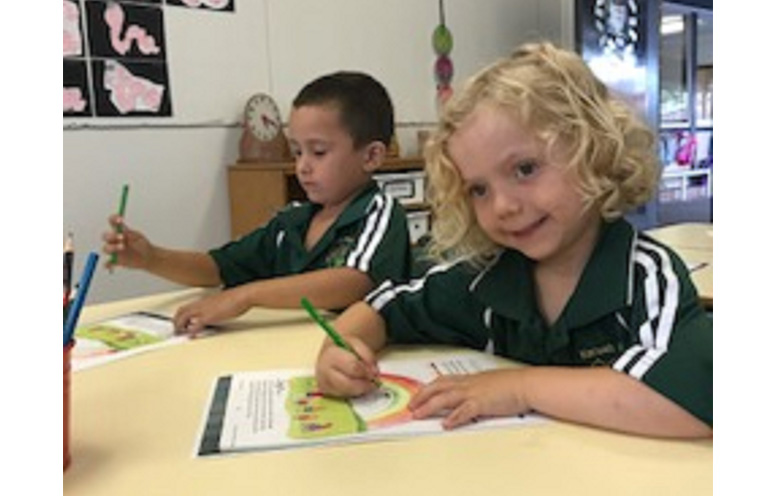 First day of Kindy at Karuah Public School. Photo: KPS