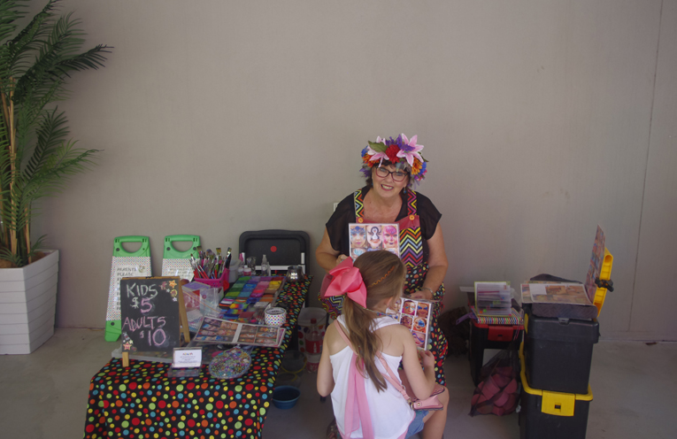 Local face painter Judi Walker. Photo by Marian Sampson.