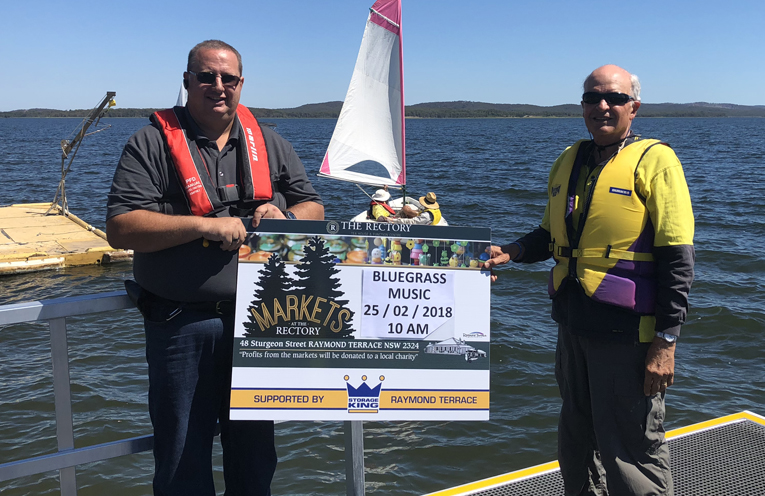 Adam Nicholas from the Rectory Markets and Richard Byrne from Sailability.