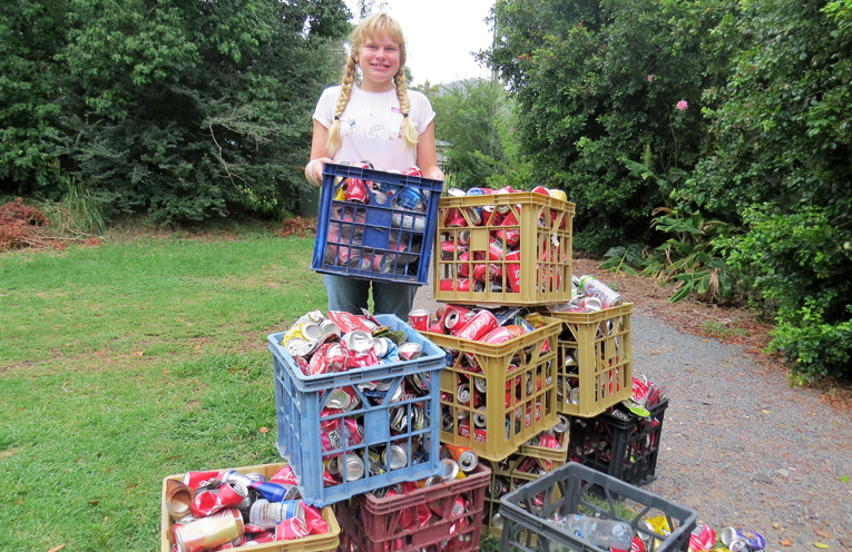 Maggie Cunich redeems around 500 containers each week.
