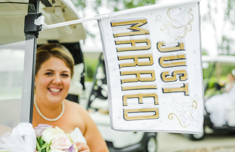 Carina and Tom's wedding at The Greenhouse in 2015 was just as they imagined.
