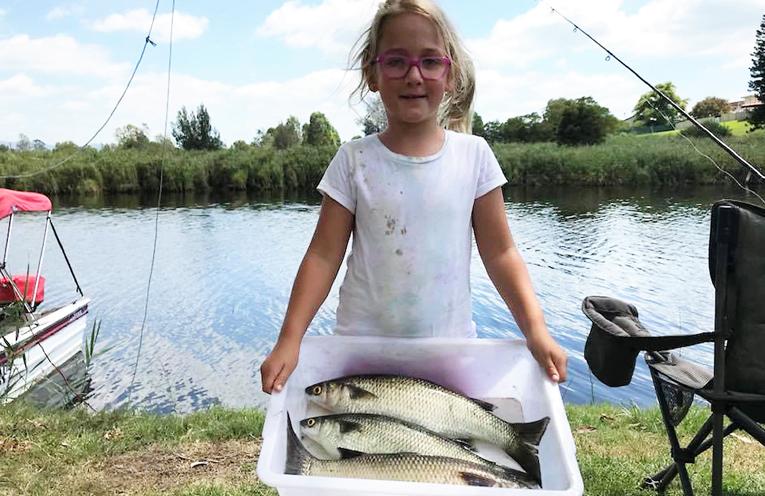 Georgie Mulder ready to weigh-in her catch.