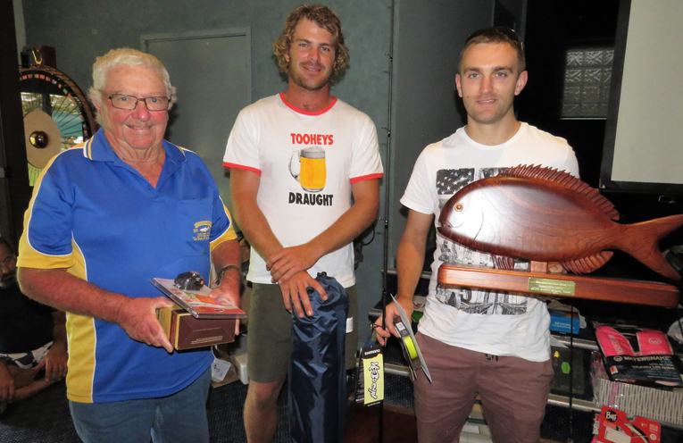 Royce Dorney Perpetual Trophy: Warren Wright and Joel Clay with winner Jessie Wallace.