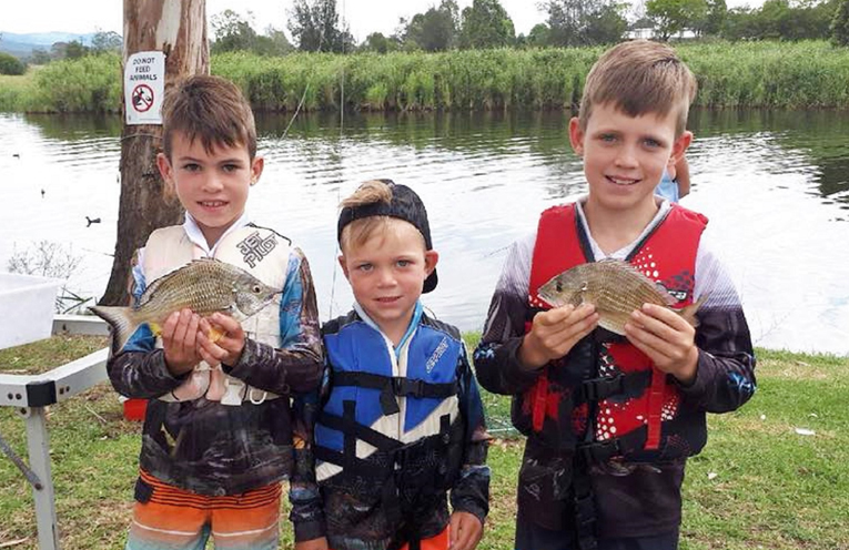 Family Fun: Juniors weighing-in at the Bash Bass.