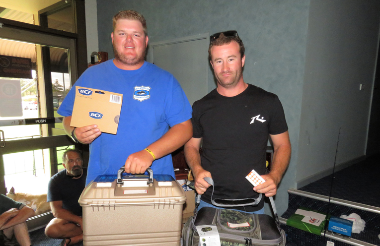 Biggest Bream: Winner Tom Evans and runner-up Josh Gregory.