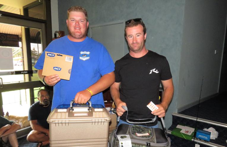 Biggest Bream: Winner Tom Evans and runner-up Josh Gregory.